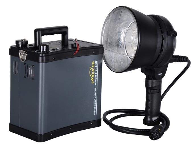 Профессиональный аккумуляторный импульсный свет NiceFoto PF-400 (крепление bowens)