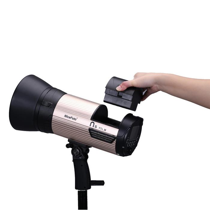 Аккумуляторный моноблок NiceFoto N6 TTL-M + синхронизатор TX-N02 (TTL режим, 600 Дж. для Nikon)