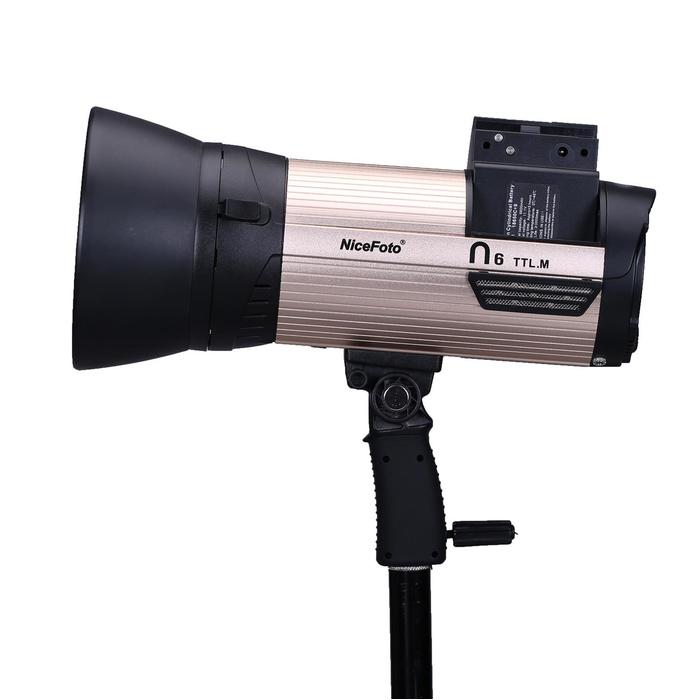 Аккумуляторный моноблок NiceFoto N4 TTL-M + синхронизатор TX-C02 (TTL режим, 400 Дж. для Canon)
